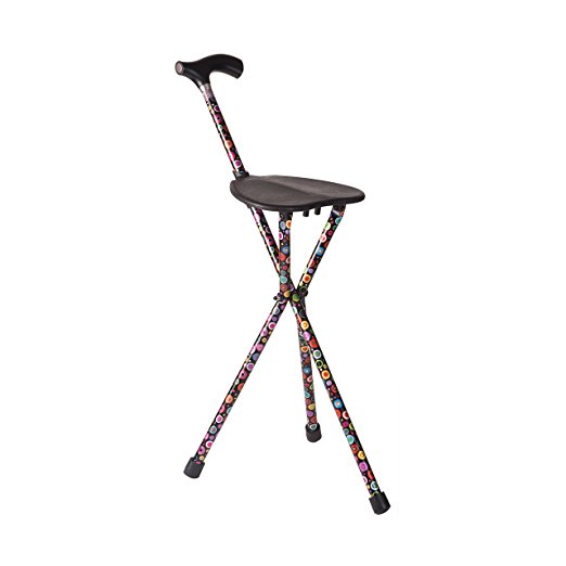Folding chair cane AND cane with seat